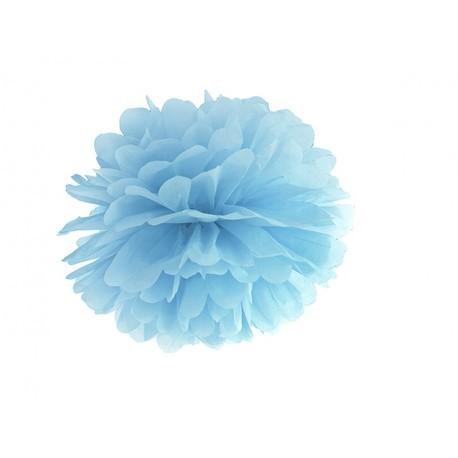 Pompon bleu ciel - 35cm