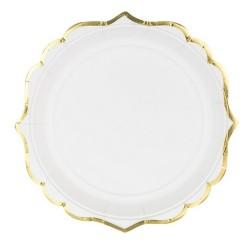 6 Assiettes blanches - 18.5cm