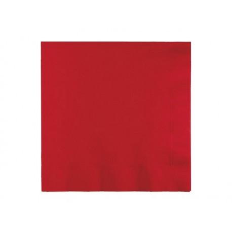 Serviette classique rouge x25