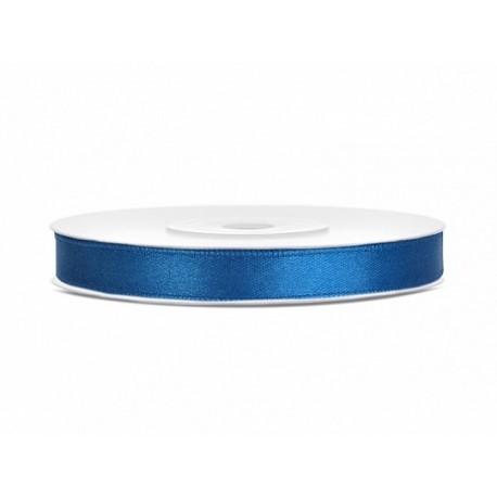 Ruban satin bleu - 25m