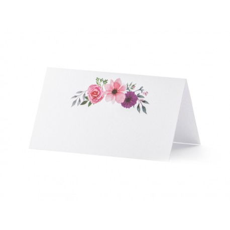 25 Marque-places fleurs