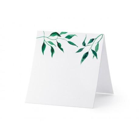 25 Marque-places feuilles aquarelle