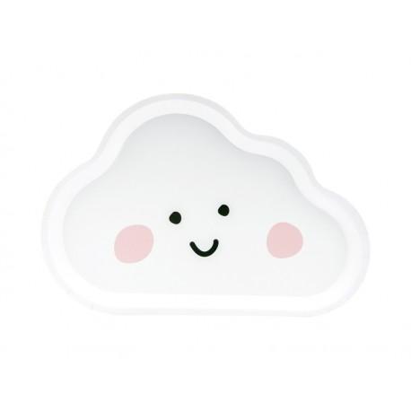6 Assiettes nuages 26cm