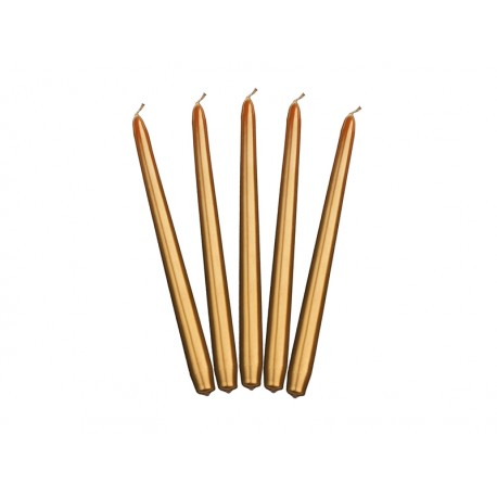 Bougie cierge dorée - 24cm