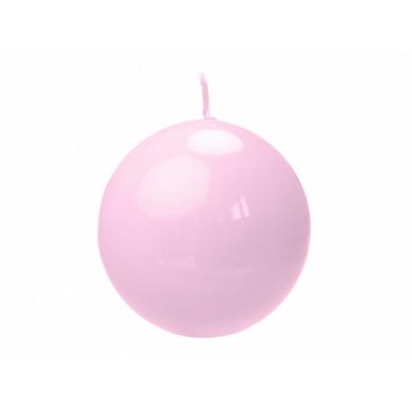 Bougie ronde rose - 6cm