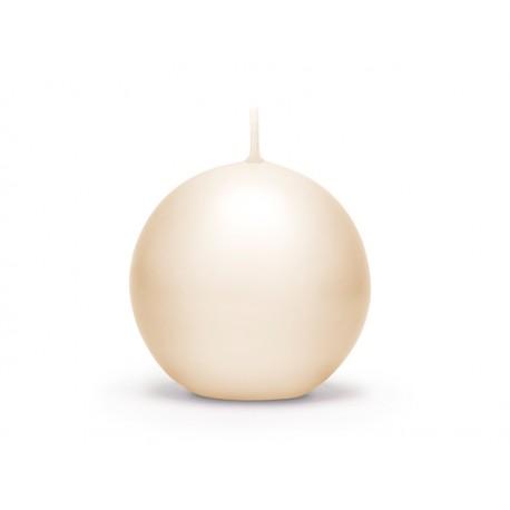 Bougie ronde crème - 6cm