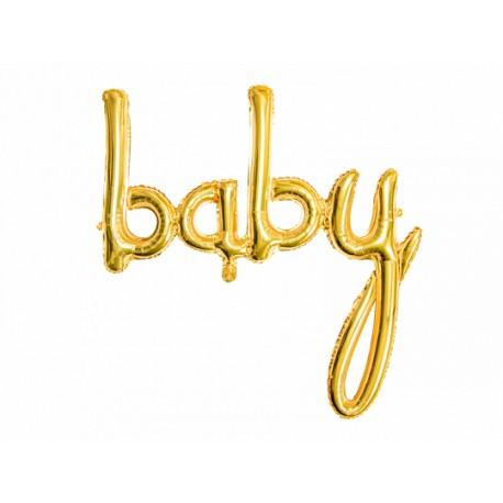 """Bballon """"baby"""" doré - 75cm"""
