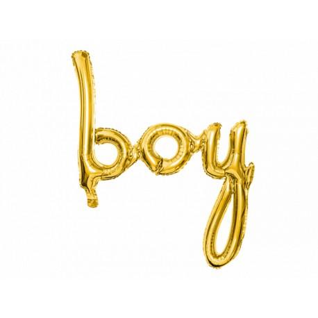 """Ballon """"boy"""" doré - 75cm"""