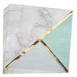 Serviettes menthe et marbre x16