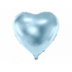 Ballon coeur bleu - 45cm