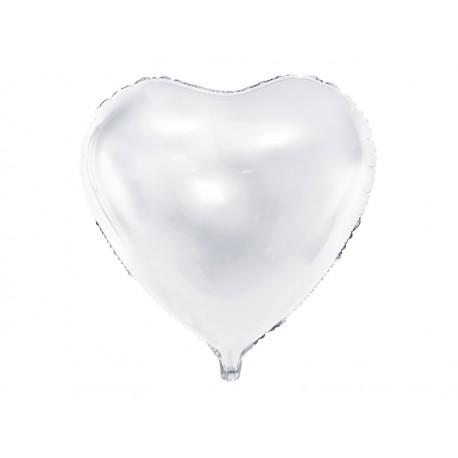 Ballon coeur blanc - 45cm