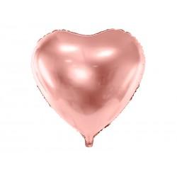 Ballon coeur rose gold - 45cm