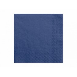 20 Serviettes bleu