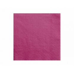 20 Serviettes fuschia