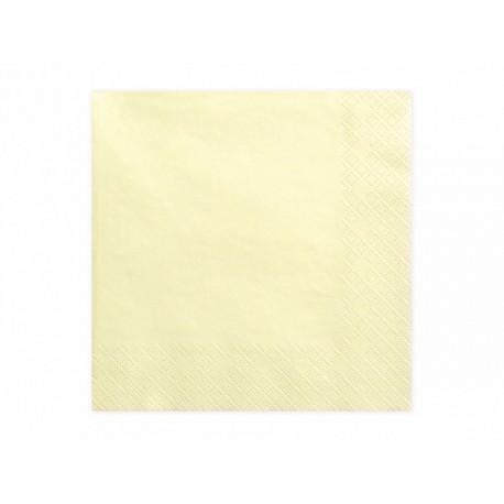 20 Serviettes crème