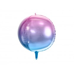 Ballon bulle ombré violet et bleu - 35cm