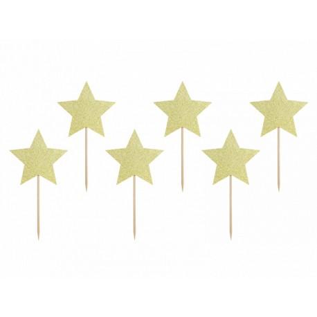 6 Pics étoiles dorés
