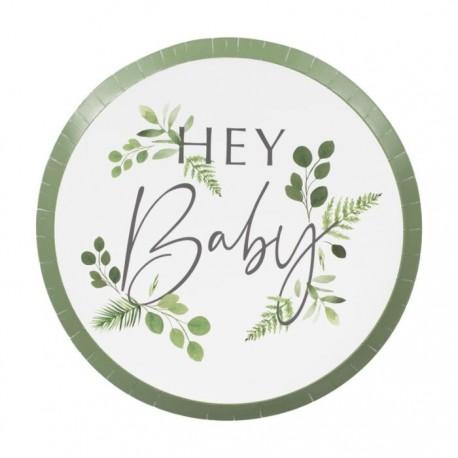 "8 Assiettes botanique ""hay baby"" - 24cm"