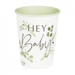 "8 Gobelets botanique ""hey baby"""