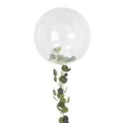 Ballon transparent avec feuillage
