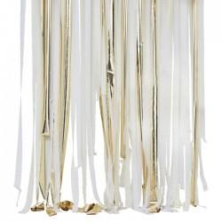 Kit rideau de ruban - blanc et or