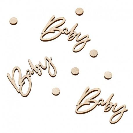 """Confettis en bois """"baby"""" et petit pois"""