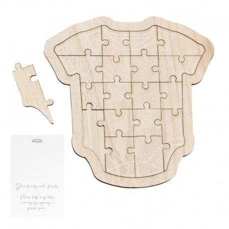 """Livre d'or puzzle en bois """"body"""""""
