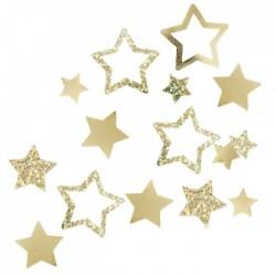 Confettis étoiles dorées - 13gr