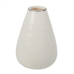 Petit vase soliflore blanc et or -7.5cm