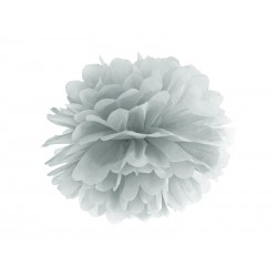 Pompon argent - 35cm