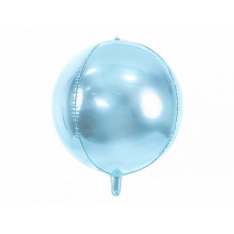 Ballon bulle mylar bleu - 40cm