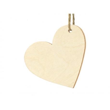 10 Marque-places coeur en bois