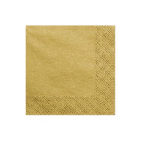 20 Serviettes dorées