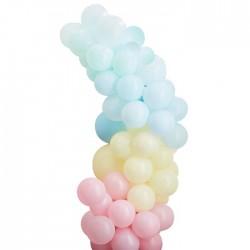 Guirlande de ballons pastel - 75 ballons