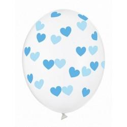 Ballon transparent coeur bleu