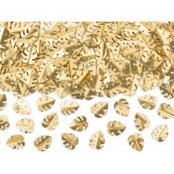 15g Confettis feuilles dorées