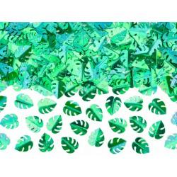 15gr Confettis feuilles vertes