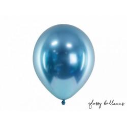 Ballon glossy bleu - 30cm