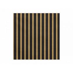 20 Serviettes noires et dorées