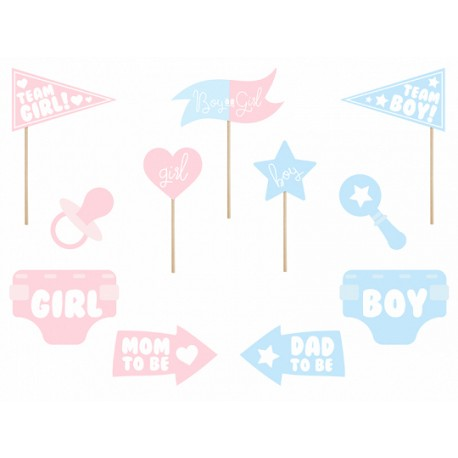 11 Accessoires photobooth gender reveal