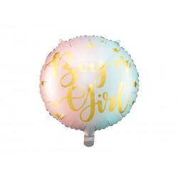"""Ballon mylar """"boy or girl"""" - 35cm"""