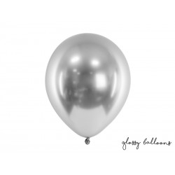Ballon glossy argent - 30cm