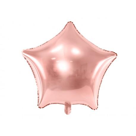 Ballon mylar étoile rose gold