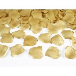100 Pétales de roses dorées - 5cm