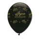 Ballon noir et or x6