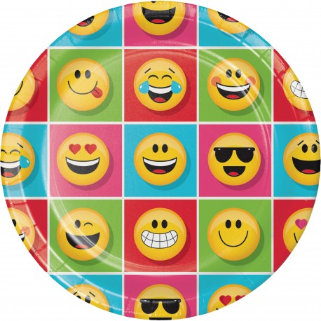 Assiette smiley x8