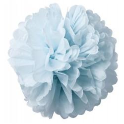 Pompons en papier de soie bleu ciel