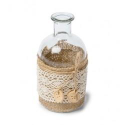 Vase bohème jute et dentelle