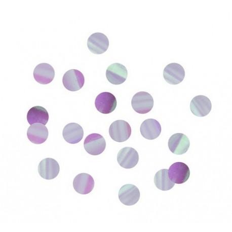 Confetti de table irisées