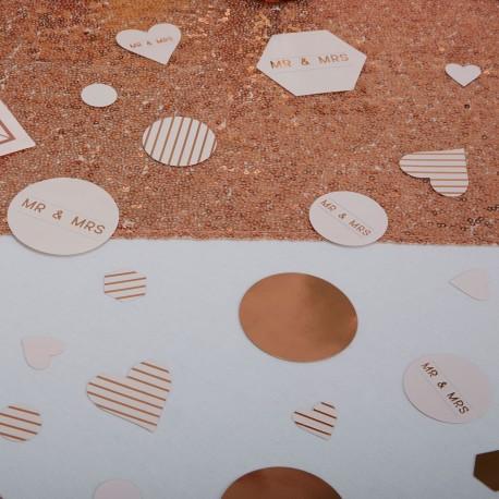 Confetti de table rose gold